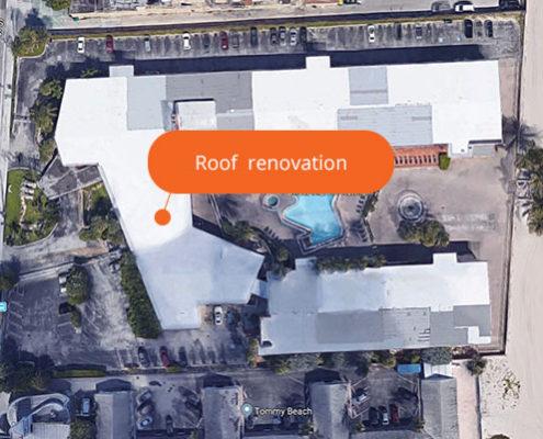 Roof renovation Sahara Beach Club | Sunny isles