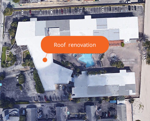 Roof renovation Sahara Beach Club | Sunny isles