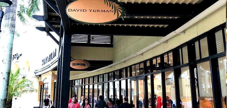 General Contractor Ramcon Corp. David Yurman store. Sawgrass mills. Sunrise, Florida.